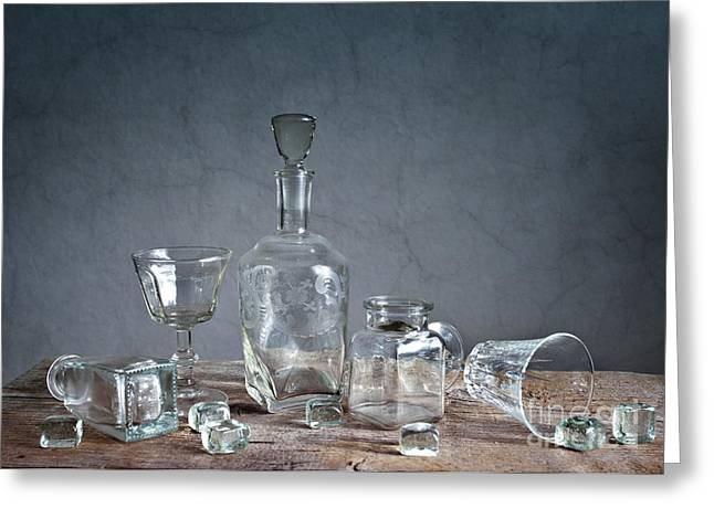 Glass Greeting Card by Nailia Schwarz