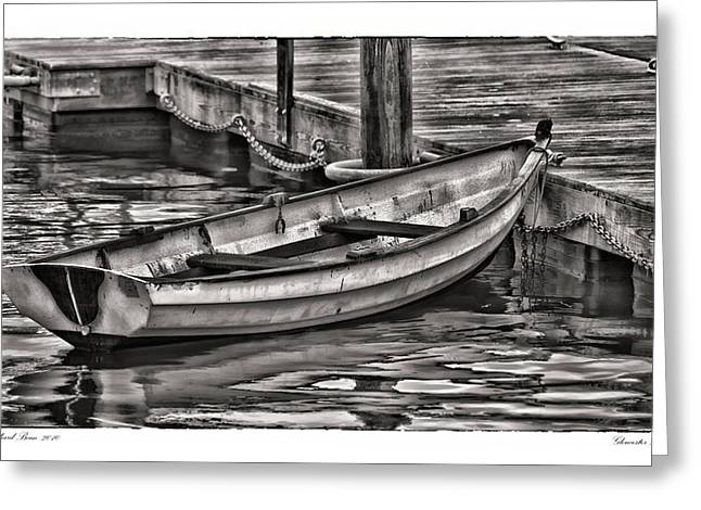 Gloucester Dinghy Greeting Card by Richard Bean