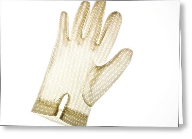 Glove Greeting Card by Bernard Jaubert