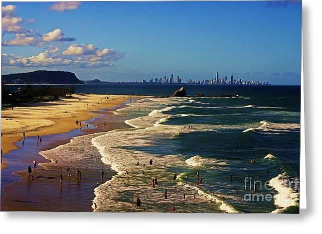 Gold Coast Beaches Greeting Card