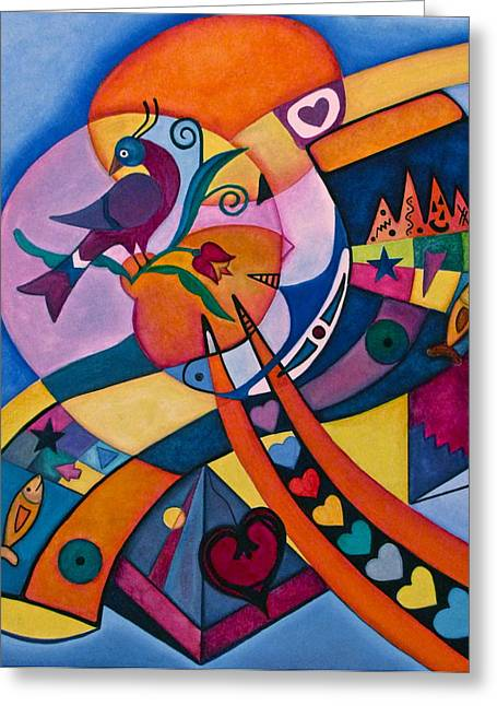 Good Luck Bird Distlefink  Greeting Card by Lori Miller