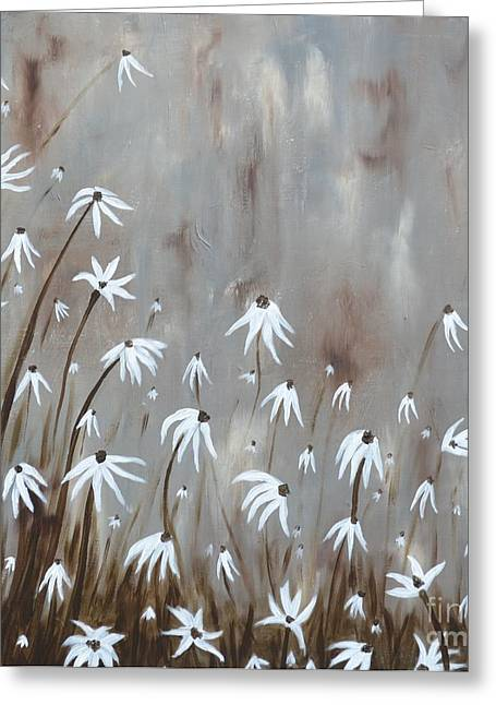 Gossamer Field Greeting Card by Holly Donohoe