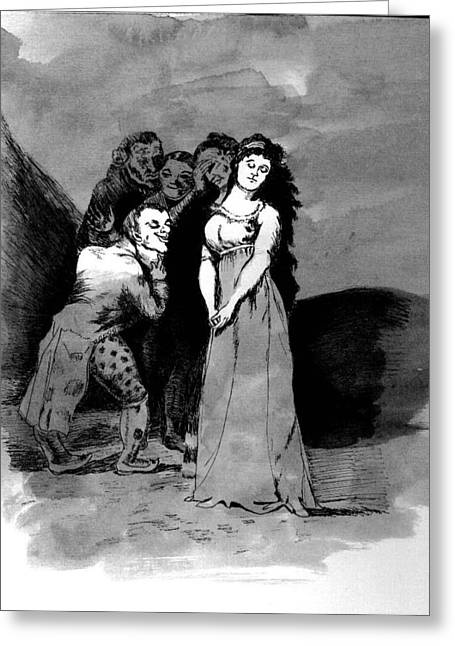 Goya Copy Greeting Card
