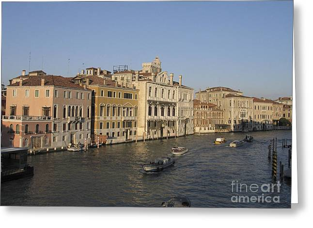 Grand Canal. Venice Greeting Card by Bernard Jaubert