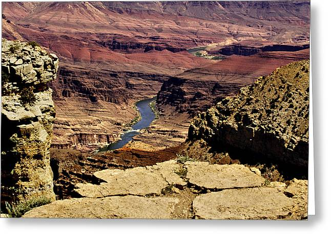 Grand Canyon Colorado River Greeting Card by Bob and Nadine Johnston