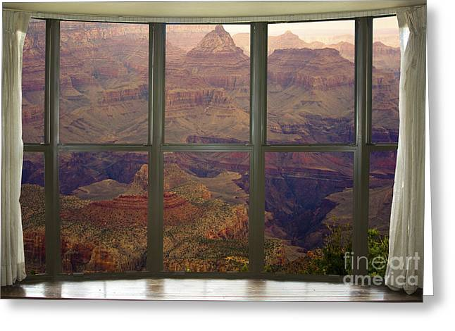 Grand Canyon Springtime Bay Window View Greeting Card by James BO  Insogna