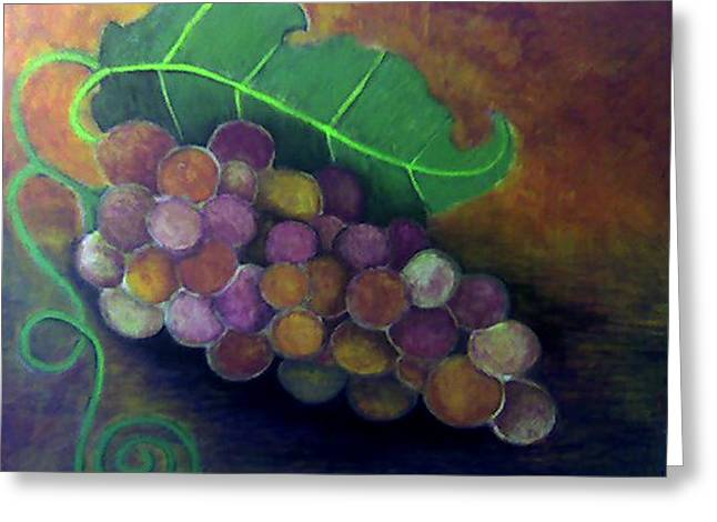 Greeting Card featuring the painting Grapes by Monica Furlow