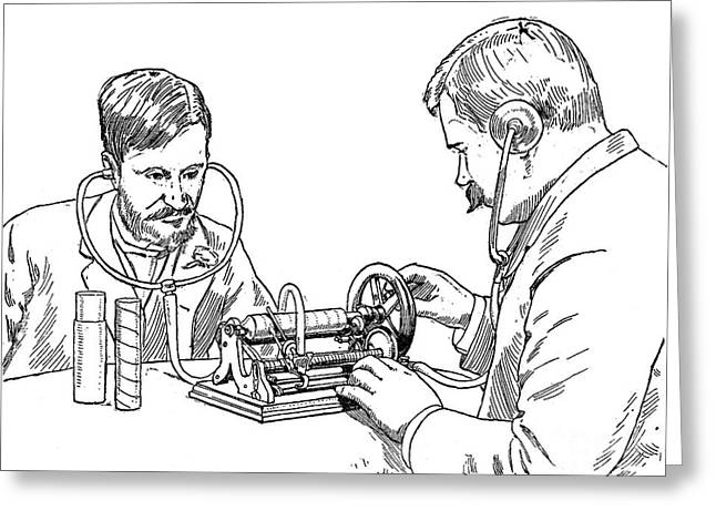 Graphophone Greeting Card by Granger