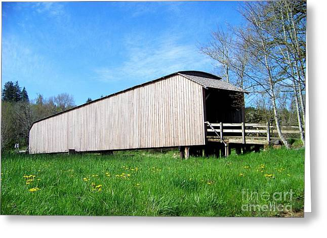 Grays River Covered Bridge Greeting Card