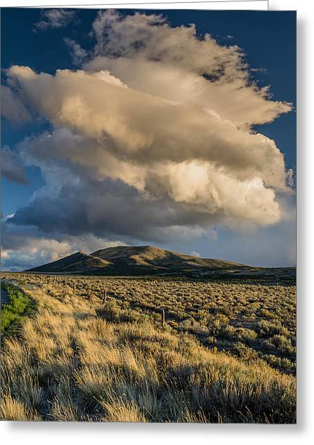 Great Basin Cloud Greeting Card by Greg Nyquist