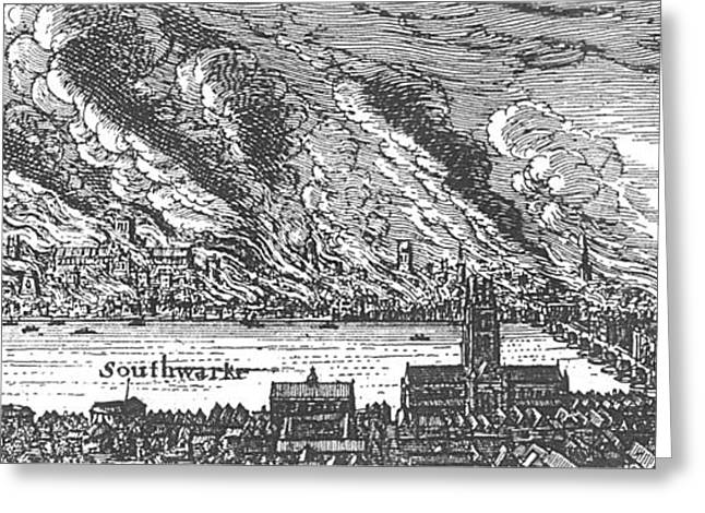 Great Fire Of London, 1666 Greeting Card by Photo Researchers