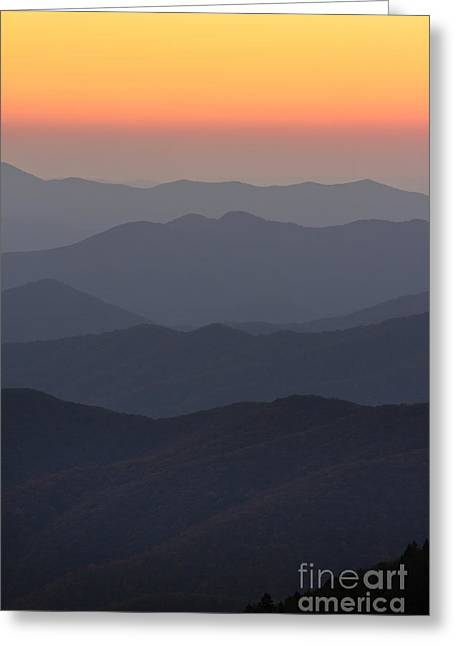 Great Smokie Mountains At Sunset Greeting Card by Dustin K Ryan