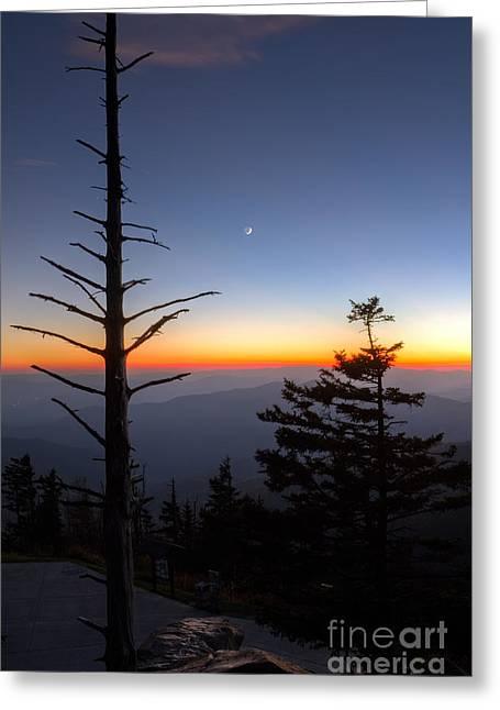 Great Smokie Mountains Sunset Greeting Card