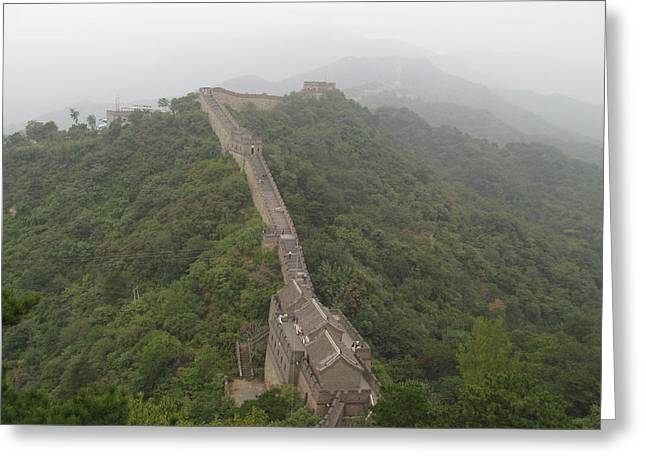Great Wall Of China Greeting Card by Alfred Ng