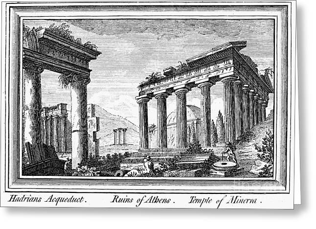 Greece: Ruins Of Athens Greeting Card by Granger