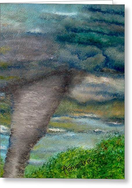 Green Skies Of Tennessee Greeting Card by Annamarie Sidella-Felts