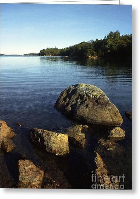 Greenlaw Cove Deer Isle Maine Greeting Card by Thomas R Fletcher