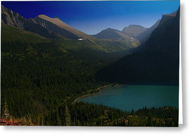 Grinnell Lake Glacier National Park Greeting Card