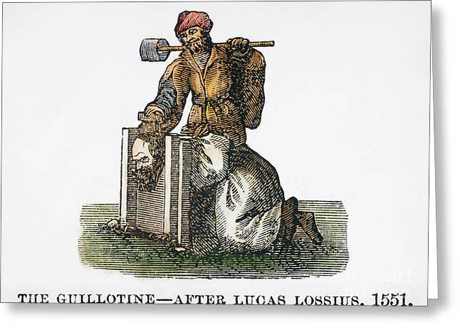 Guillotine, 1551 Greeting Card by Granger