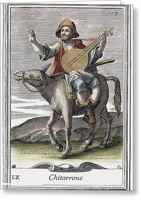 Guitar, 1723 Greeting Card