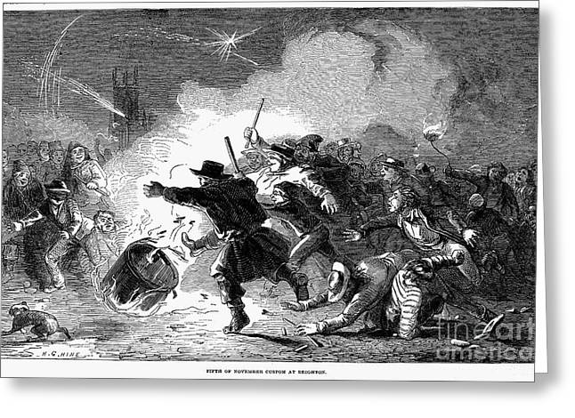 Guy Fawkes Day, 1853 Greeting Card by Granger