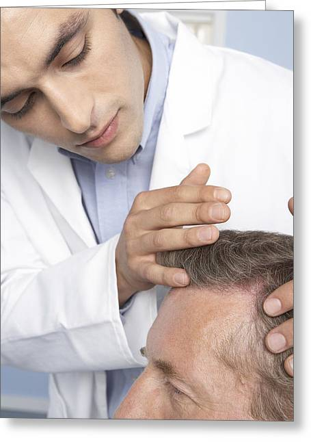 Hair Transplant Consultation Greeting Card by Adam Gault