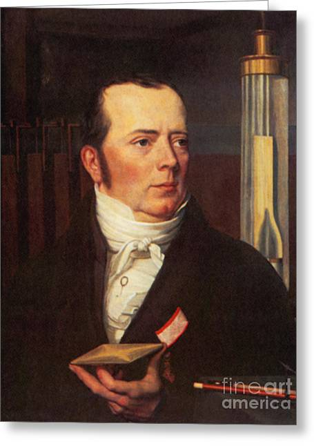 Hans Christian �rsted, Danish Physicist Greeting Card by Science Source