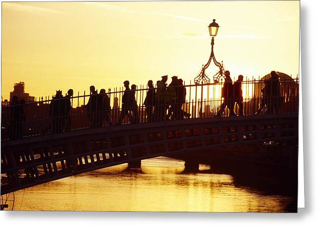 Hapenny Bridge, Dublin, Co Dublin Greeting Card