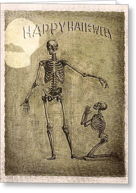 Happy Halloween Greeting Card by Jeff Burgess
