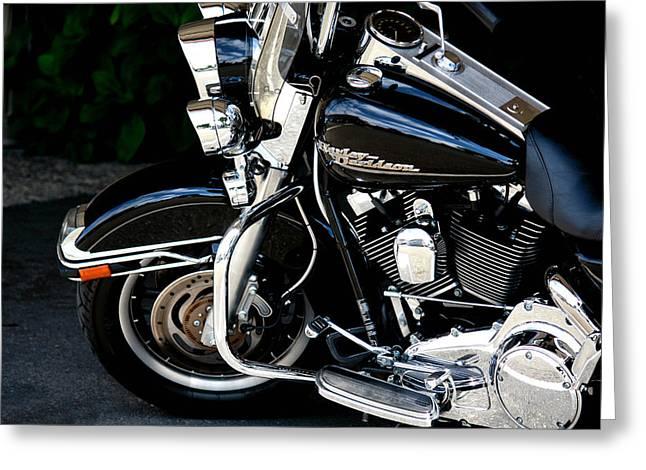 Harley Davidson  Greeting Card by Karen Scovill