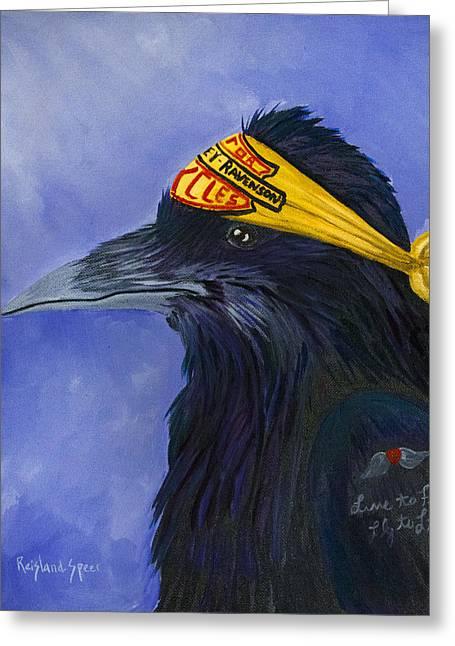 Harley Ravenson Greeting Card by Amy Reisland-Speer