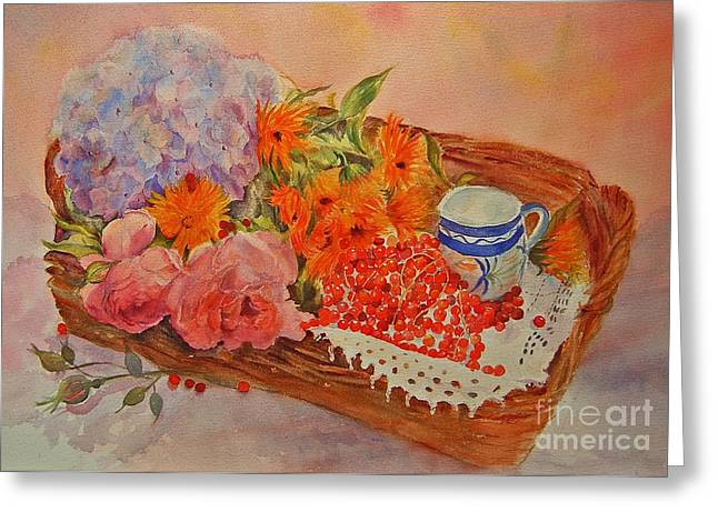 Harvest Greeting Card by Beatrice Cloake