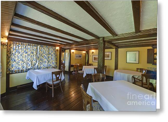 Hastings House Dining Room Greeting Card by Rob Tilley