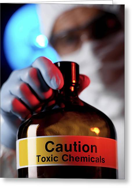 Hazardous Chemical Greeting Card by Tek Image