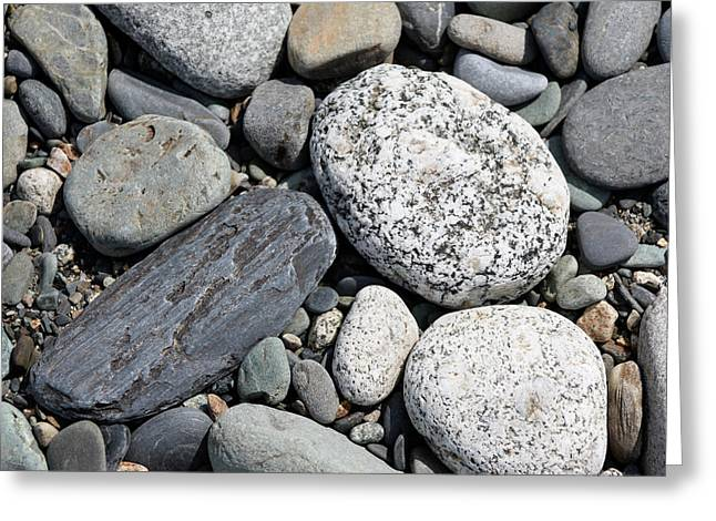 Healing Stones Greeting Card by Cathie Douglas