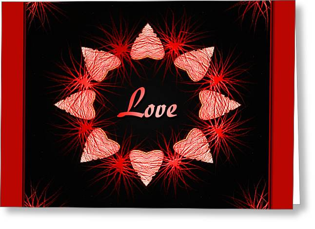 Greeting Card featuring the digital art Hearts Of Love by Barbara MacPhail