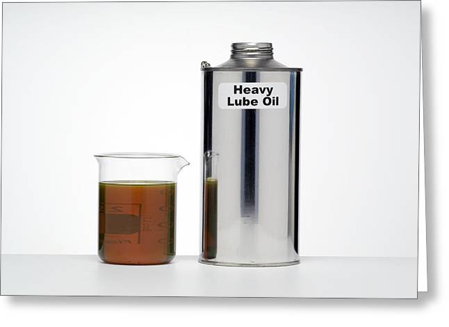 Heavy Lubricating Oil Greeting Card by Paul Rapson