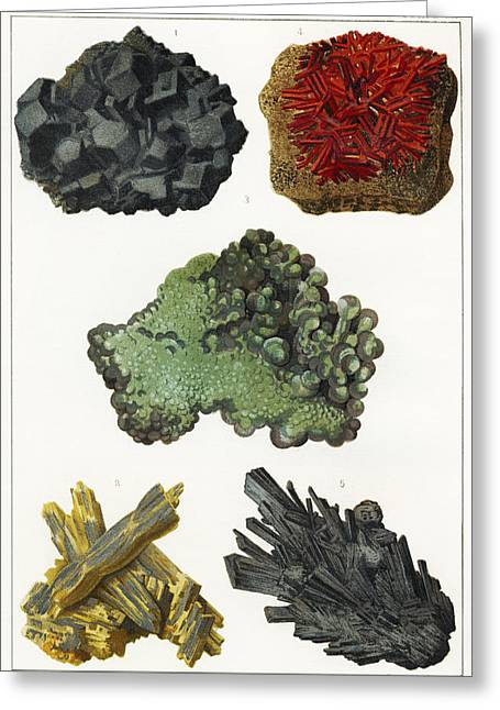 Heavy Metal Minerals Greeting Card