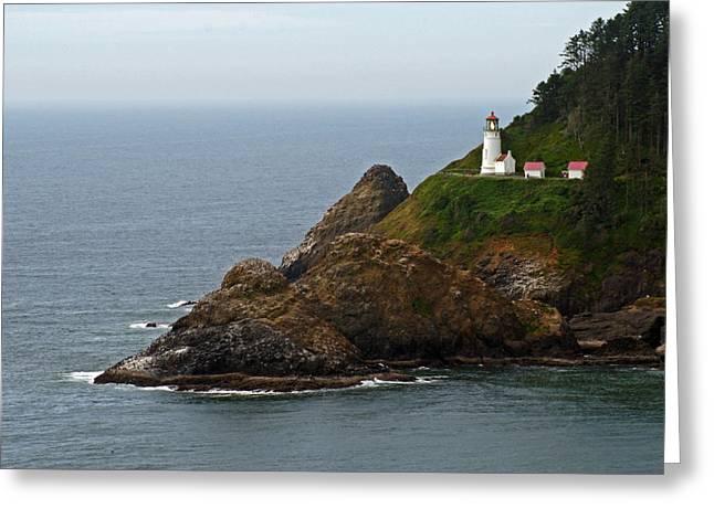 Heceta Head Lighthouse Greeting Card by Jake Johnson