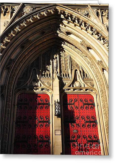 Heinz Chapel Doors Greeting Card by Thomas R Fletcher