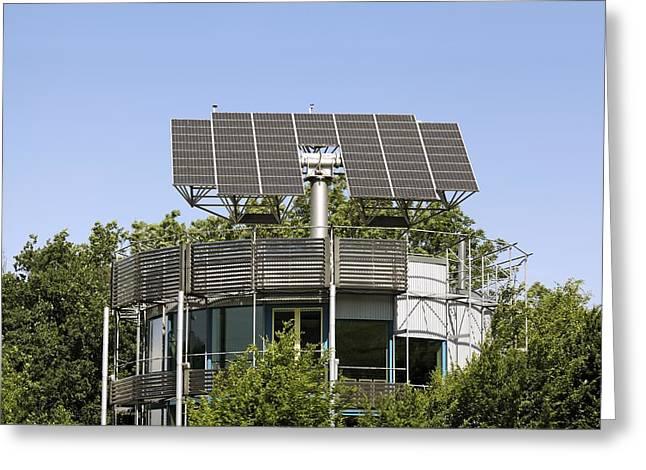 Heliotrope Solar House Greeting Card by Martin Bond