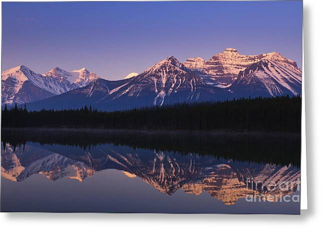 Herbert Lake Sunrise Greeting Card by Ginevre Smith
