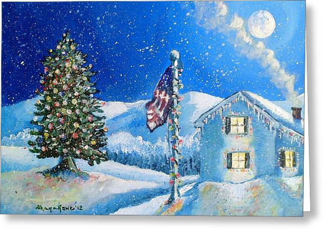 Home For The Holidays Greeting Card by Shana Rowe Jackson