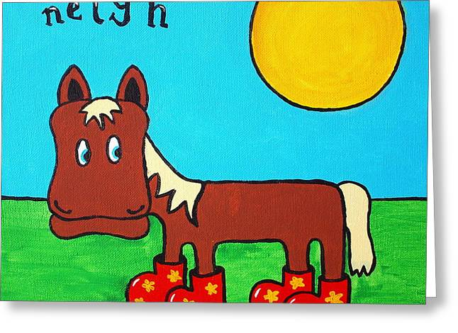 Horse Greeting Card by Sheep McTavish