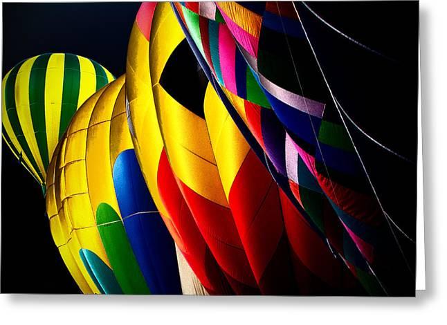 Hot Air Balloons Greeting Card by David Patterson