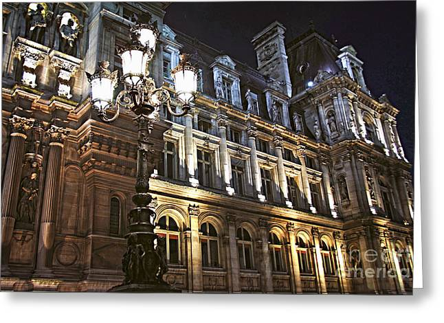 Hotel De Ville In Paris Greeting Card