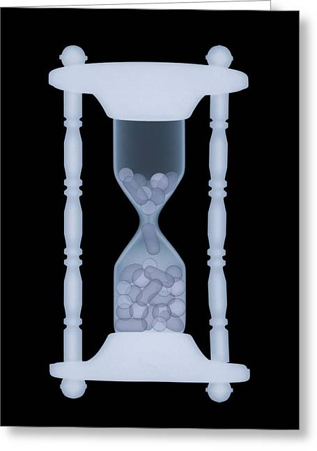 Hourglass, X-ray Greeting Card by D. Roberts