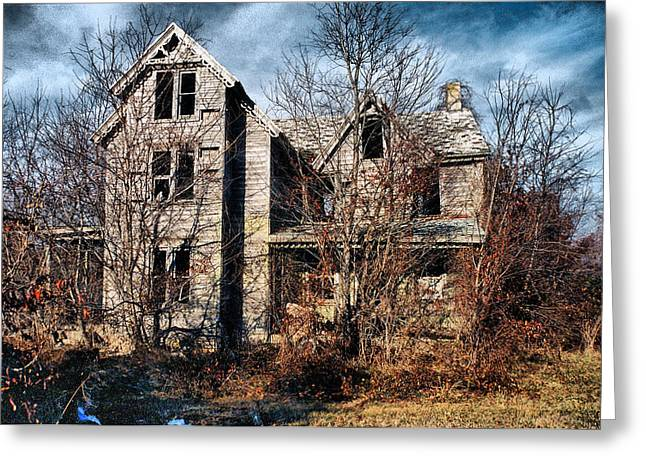 House In Ruins Greeting Card