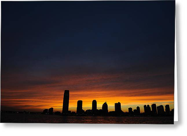 Hudson River Sunset Greeting Card by Terese Loeb Kreuzer