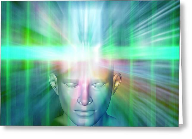 Human Consciousness Greeting Card